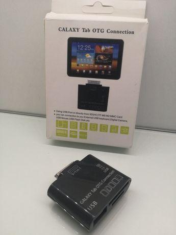 Adaptador OTG de cartões SD e USB para Samsung Galaxy Tab 10.1