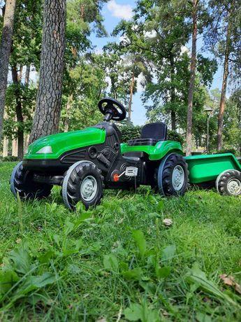 Трактор педальний Великий на 3-9 р, 114*53*64, резина колеса, причеп