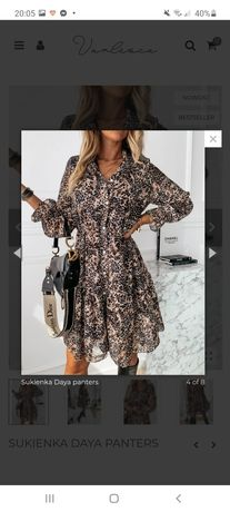 Sukienka varlesca panterka pantera centki kropki