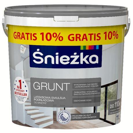 ŚNIEŻKA grunt biały 10l+1l GRATIS