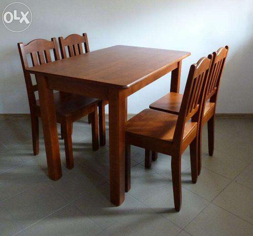 drewniany stół kuchenny z krzeslami do kuchni i 4 krzesła kuchenne