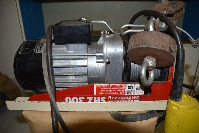 Guindaste/Grua de tecto com motor eléctrico (300kg)