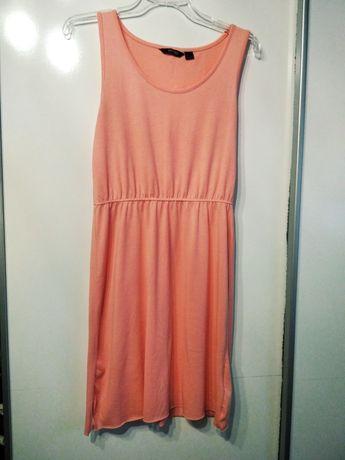 Koralowa sukienka na lato