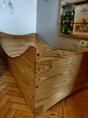 Łóżko dziecięce adekostolarnia box 3 140x70 plus materac lateksowy