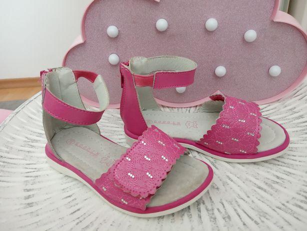 Sandałki dziewczęce 25cm wkładka 16cm