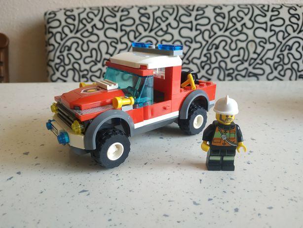 Лего Lego city 7206 пожарный джип оригинал