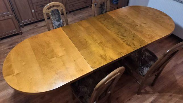 Stół do jadalni dębowy rozkładany 8 krzeseł stan idealny