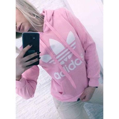 Bluza damska adidas pudrowy róż