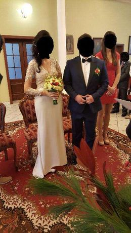 Sprzedam garnitur ślubny oraz koszulę firmy LANCERTO