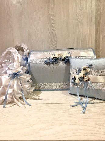 Свадебный набор нежно-голубой