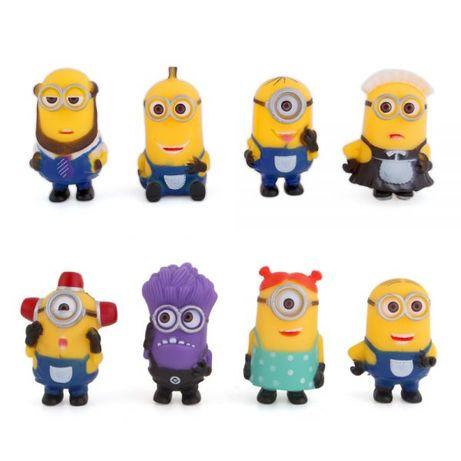 LU127 8 Miniaturas Despicable Me Minions Bonecos Criança