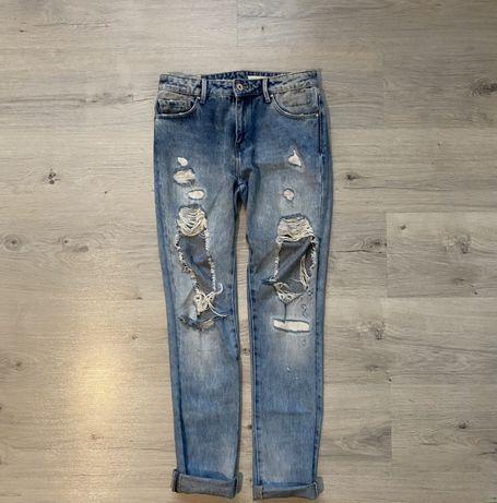Spodnie jeansowe z dziurami Zara S