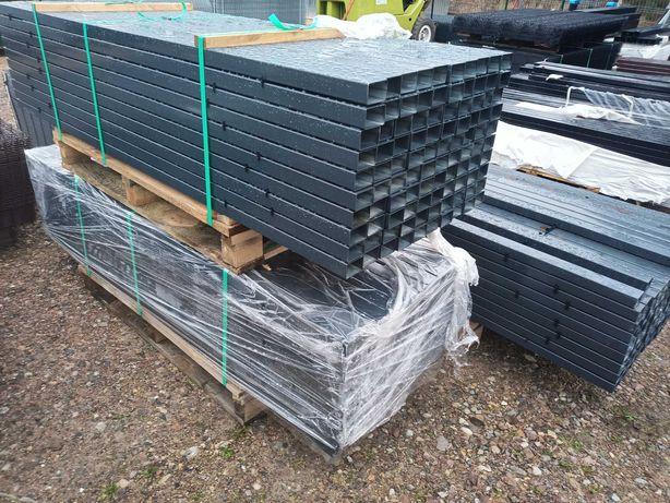Słupki ogrodzeniowe 40/60/200 antracyt czarne zielone brązowe