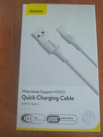 Nowy Kabel Baseus USB Type-C Vooc Charge