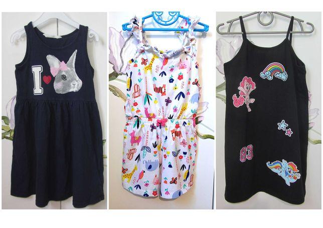 Трикотажный ромпер комбинезон шорты и сарафан платье H&M 4-5-6 лет