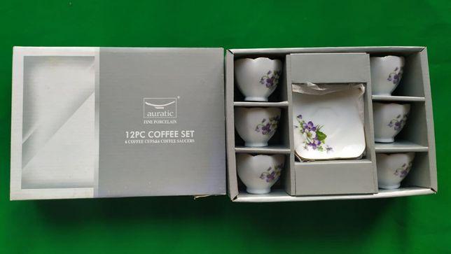 """Кофейный набор сервиз """"Auratic Fine Porcelain"""" (6 чашек / 6 блюдец)"""
