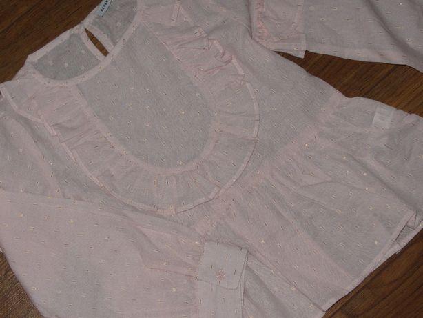 NOWA!Pastelowo-różowa koszula *RESERVED* złota nitka r.122cm