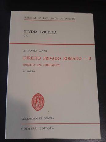 Livro Curso Direito - Direito Privado Romano (oferta portes)