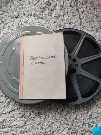 Taśma filmowa,szpula filmowa.Tytuł:Marcelino Chleb i Wino+scenariusz