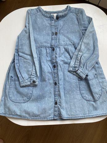 Koszula sukienka dla dziewczynki rozmiar 80