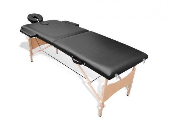 Массажный стол 2-х секционный DS MS168 Черный
