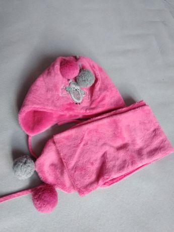 Komplet zimowy czapka+ szalik Pupil