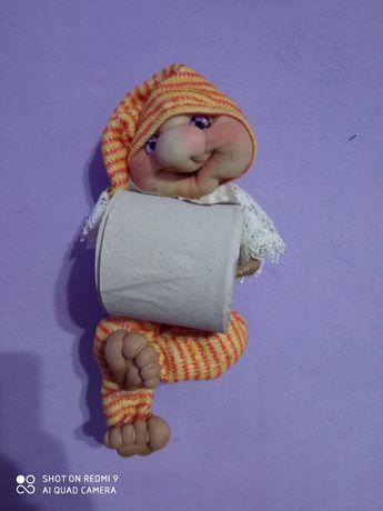 Кукла- бумагодержатель  ручной работы !