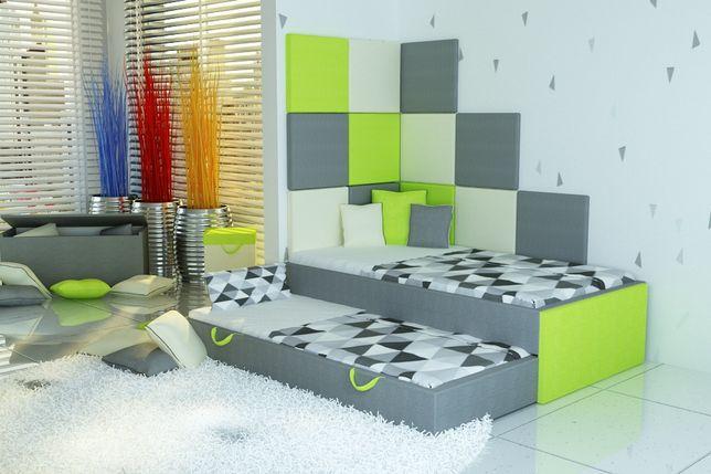 Bezpieczne łóżko piętrowe-niskie dla dzieci+panele taicerowane. Lublin