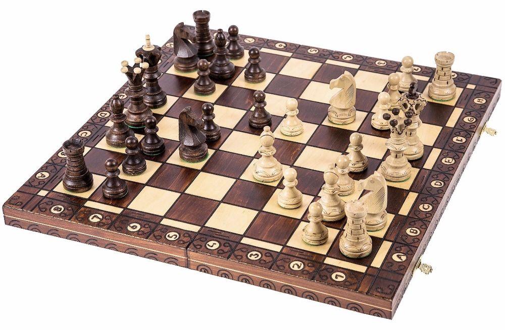 Szachy drewniane  - 54cm nowe prezent Rzeszów - image 1