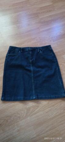 Granatowa spódnica jeansowa  44