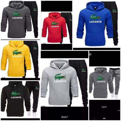 Komplety męskie z logo Lacoste kolory S-XXl!!!