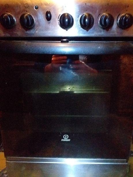 Kuchenka gazowa z piekarnikiem Indesit Inox