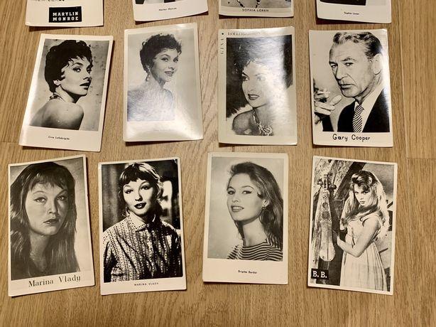 Вінтажні ретро відкритки открытки Актори (З Польщі) - ціна за 12 шт