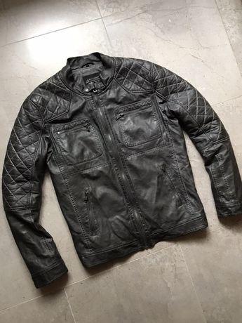 Куртка кожаная косуха стеганка