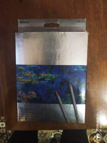 Продам карандаши цветные 36 штук и краски 14 цветов