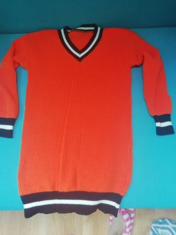 Sweter oversize neon pomaranczowy
