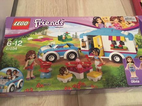 zestaw lego friends autko z przyczepą