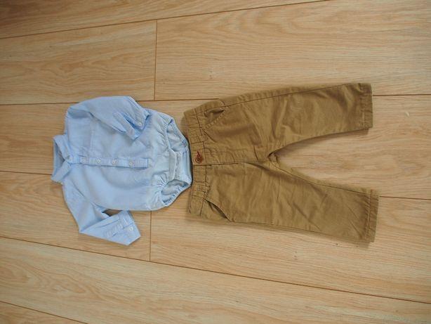 Komplet ZARA Body koszulowe+ eleganckie spodnie