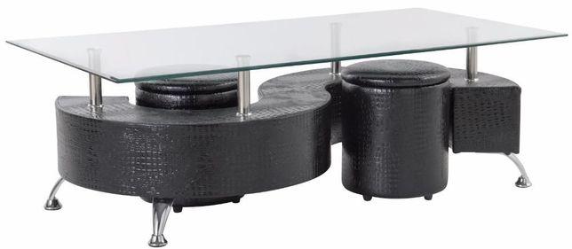 Mesa baixa com poufs SOPHIA