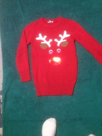 sweter swiateczny 10 - 11 lat