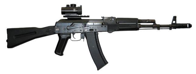 Replika ASG - stalowy karabin AK-74 MN (E&L) + TUNING