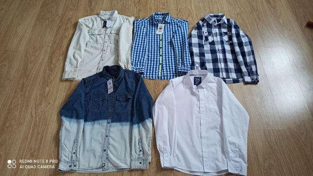 Paka ubrań dla chłopca r.158-164 dwie kurtki i płaszcz w zestawie