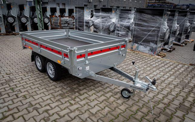 Przyczepa dwuosiowa transportowa tandem TRANSPORTER 254x153 DMC 750 kg