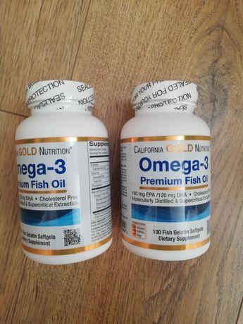омега-3, рыбий жир премиального качества, 100капсул