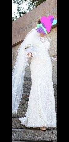 свадебное платье, цена снижена наполовину