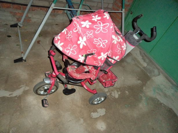 Детский велосипед с родительской ручкой!