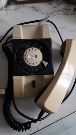 Telefon Bratek PRL beżowy