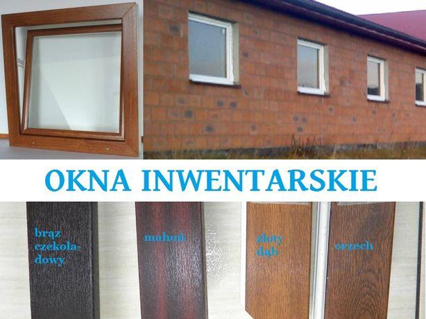 Okna inwentarskie PCV do obór,garaży, domków letniskowych_OKNO 60x60cm