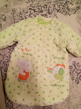 Продам теплый спальный мешок для новорожденного