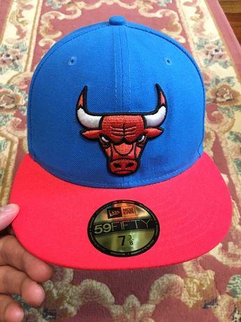 58.7 см NEW ERA Chicago Bulls кепка бейсболка реперка снепбек snapback